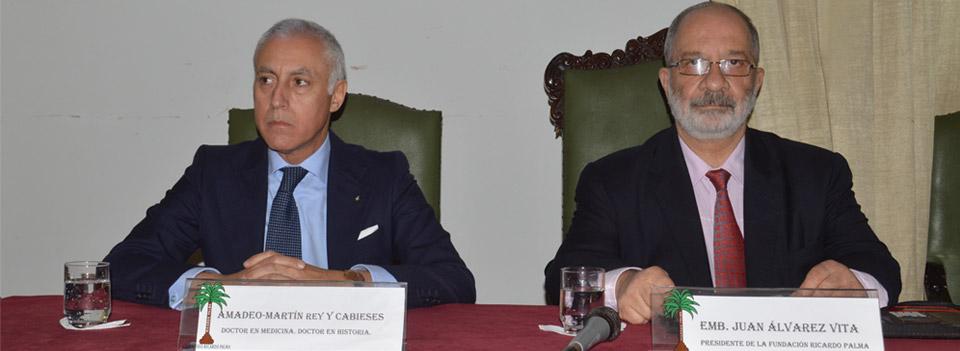 Conferencia de Amadeo-Martín Rey y Cabieses en la Casa Museo Ricardo Palma, Lima (Perú)