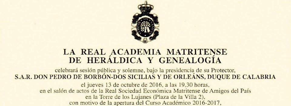 Apertura del Curso Académico 2016-2017
